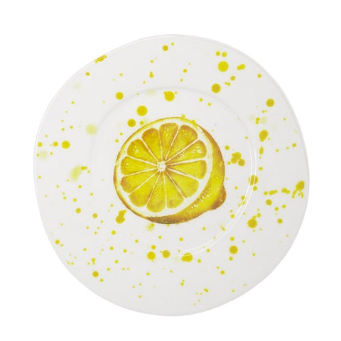 Melamine Fruit Dinner Plate - Lemon