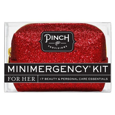 Mini Emergency Kit Red Glitter