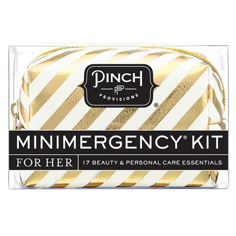 Mini Emergency Kit White & Gold Candy Striper
