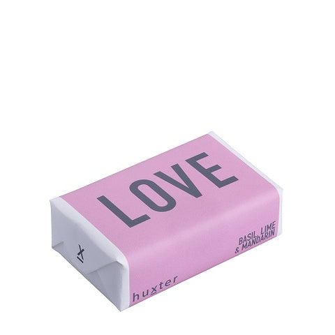 LOVE Pink with Grey Bar Soap