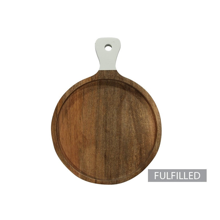 Round Cutting Board with Handle, Small