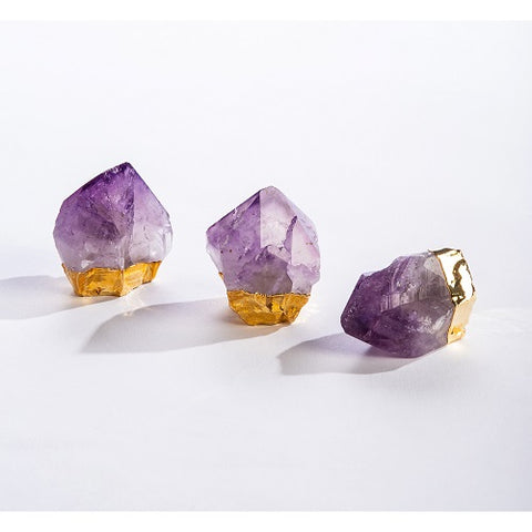 Amethyst Point With Gold Plating
