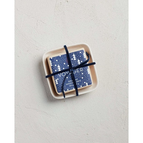 Voyager Holiday Bar Soap in Ceramic Dish