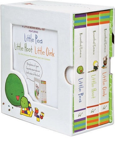 The Little Books Boxed Set Featuring Little Pea, Little Hoot, Little Oink