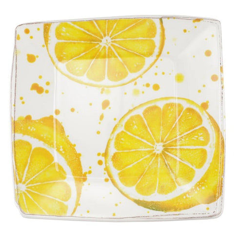 Melamine Fruit Square Platter - Lemon