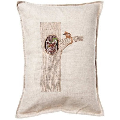 Owl in Tree Pocket Pillow