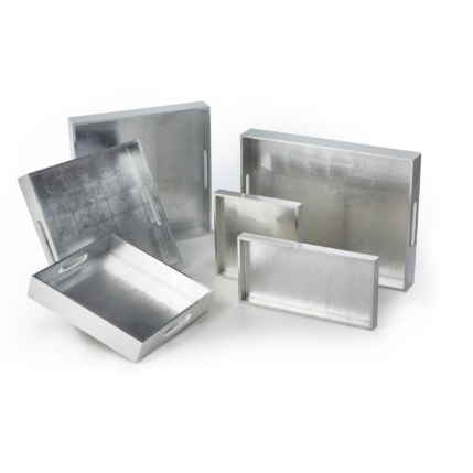 Lacquer Silver & White Tray (More Options)