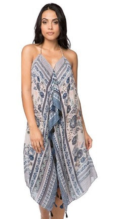 Maxi Tassel Dress in Antique Haven