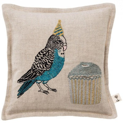 Birthday Parakeet Tooth Fairy Keepsake Pillow