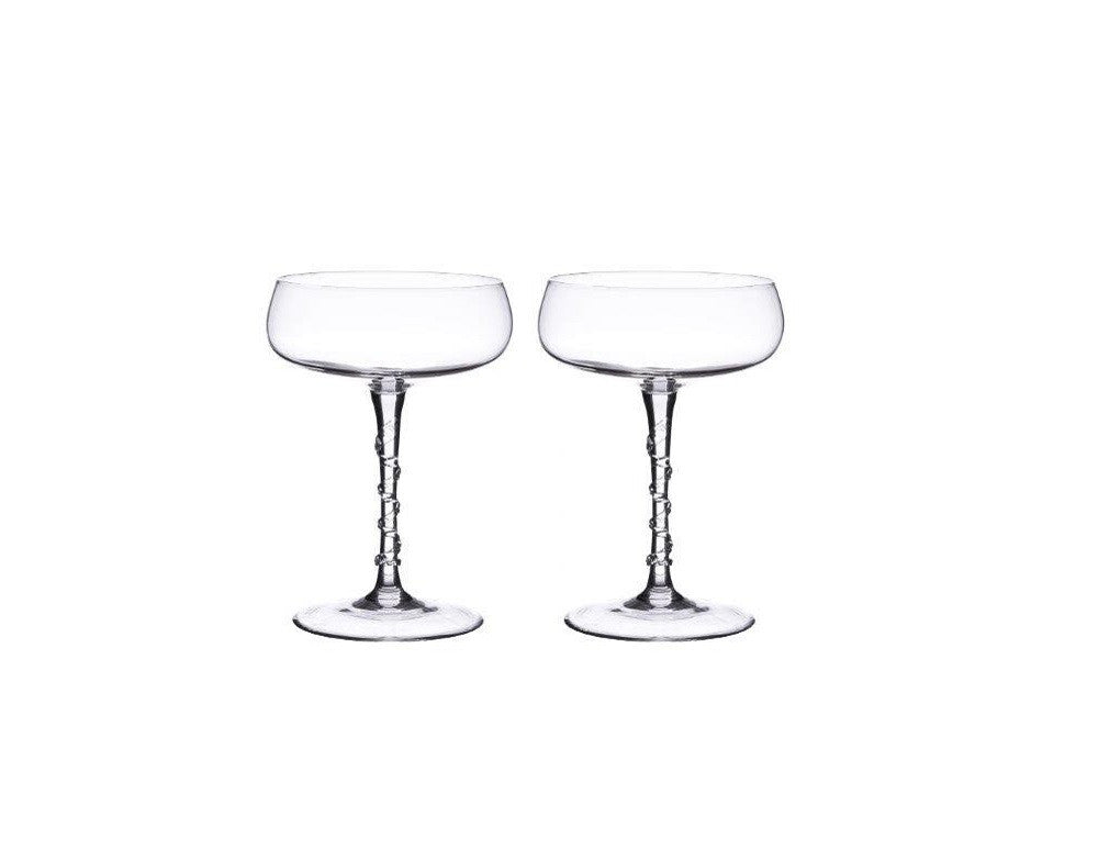 Champagne Coupe Set x2