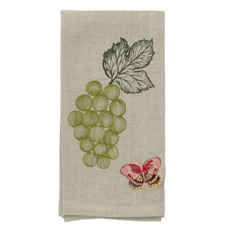 Grapes & Butterfly Tea Towel