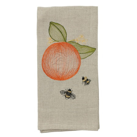 Orange & Bees Tea Towel