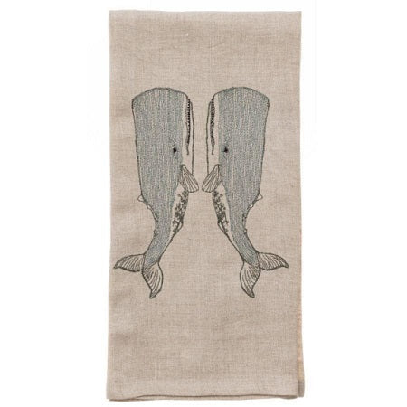 Whale Love Tea Towel
