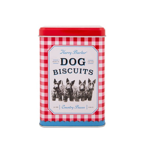 Gingham Biscuit Tin