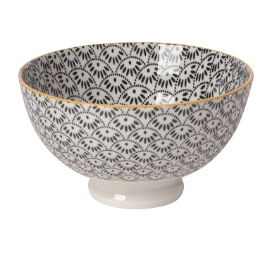 Stamped Bowl - Dotted Scallop
