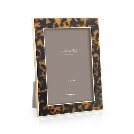 Faux Tortoiseshell & Gold Photo Frame