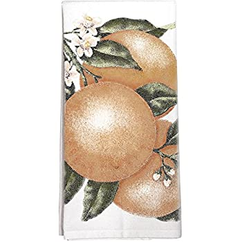 Orange Branch Towel