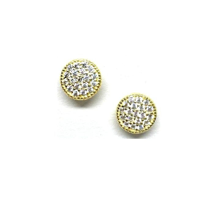 Micro Pave Round Earrings