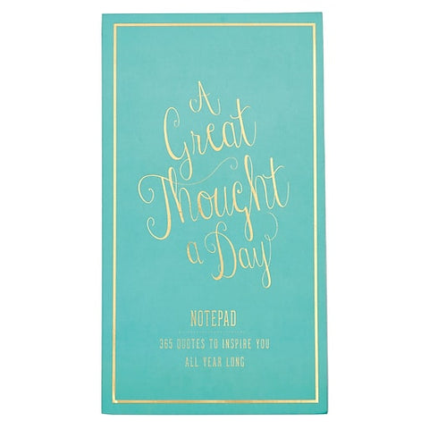 Great Thought a Day Pad, Seafoam Green