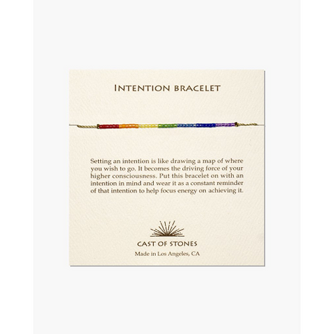 Chakra Rainbow Intention Bracelet