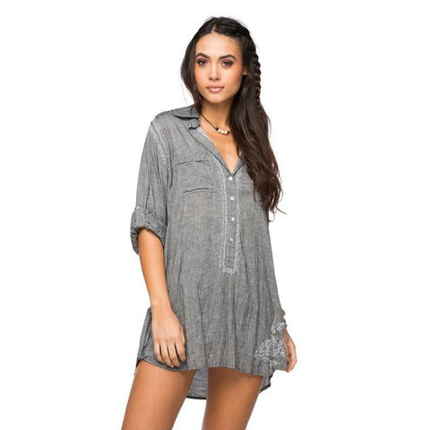 Boyfriend Shirt in Charcoal