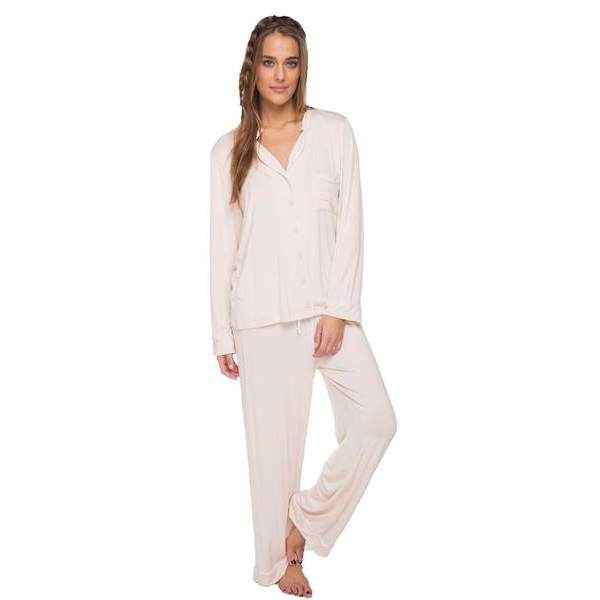 Pippa Pajama Set - Tea Rose/Nude