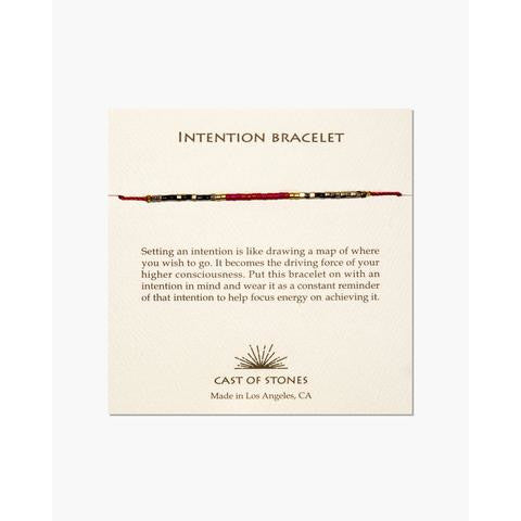 Red & Neutral Intention Bracelet