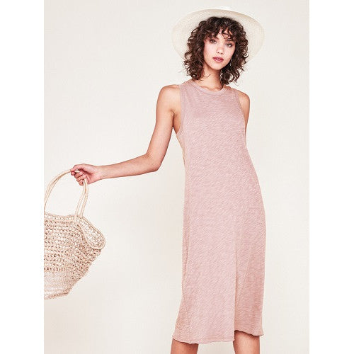 Rowan Racerback Midi Dress - Rose
