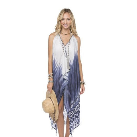 Maxi Tassel Dress in Stained Glass