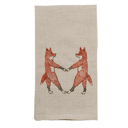 Fox Love Tea Towel