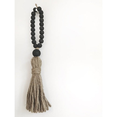Welcome Tassel Black