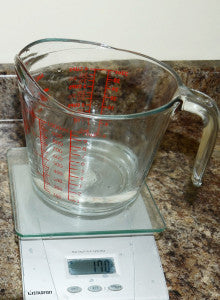 Use a scale and a measuring cup for the most accurate measurements.