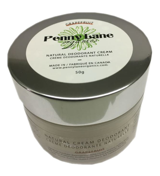 Natural Deodorant Cream - Pink Grapefruit-Penny Lane Organics