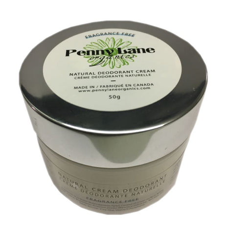 Natural Deodorant Cream - Fragrant Free-Penny Lane Organics