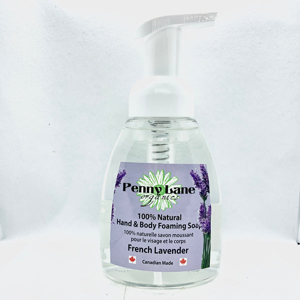 Hand & Body Foaming Soap - French Lavender-Penny Lane Organics