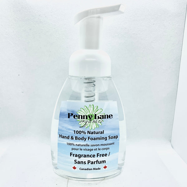 Hand & Body Foaming Soap - Fragrance Free-Penny Lane Organics
