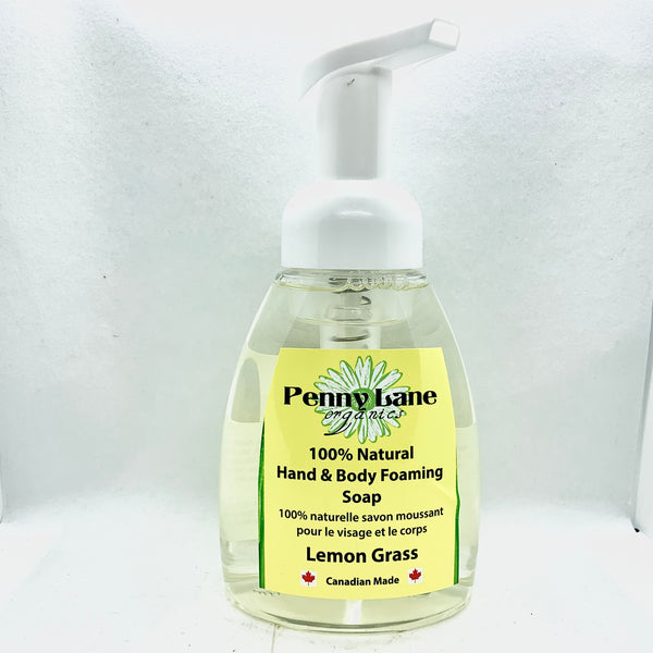 Hand & Body Foaming Soap - Lemongrass-Penny Lane Organics