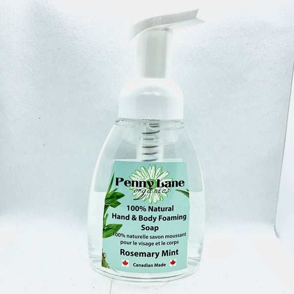 Hand & Body Foaming Soap - Rosemary Mint-Penny Lane Organics