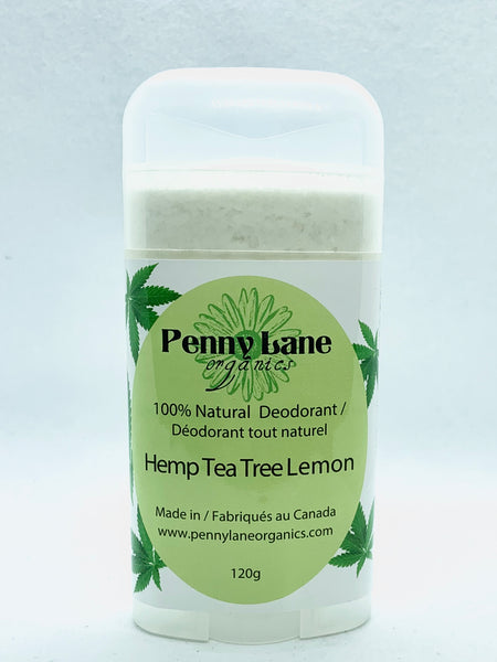 Natural Deodorant - Hemp Based Tea Tree Lemon (VEGAN)-Penny Lane Organics