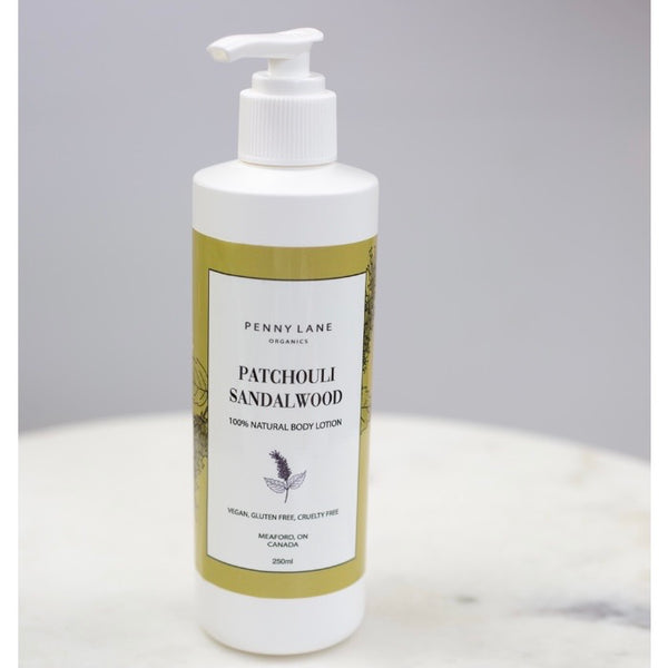 Hand and Body lotion - PATCHOULI SANDALWOOD-Penny Lane Organics