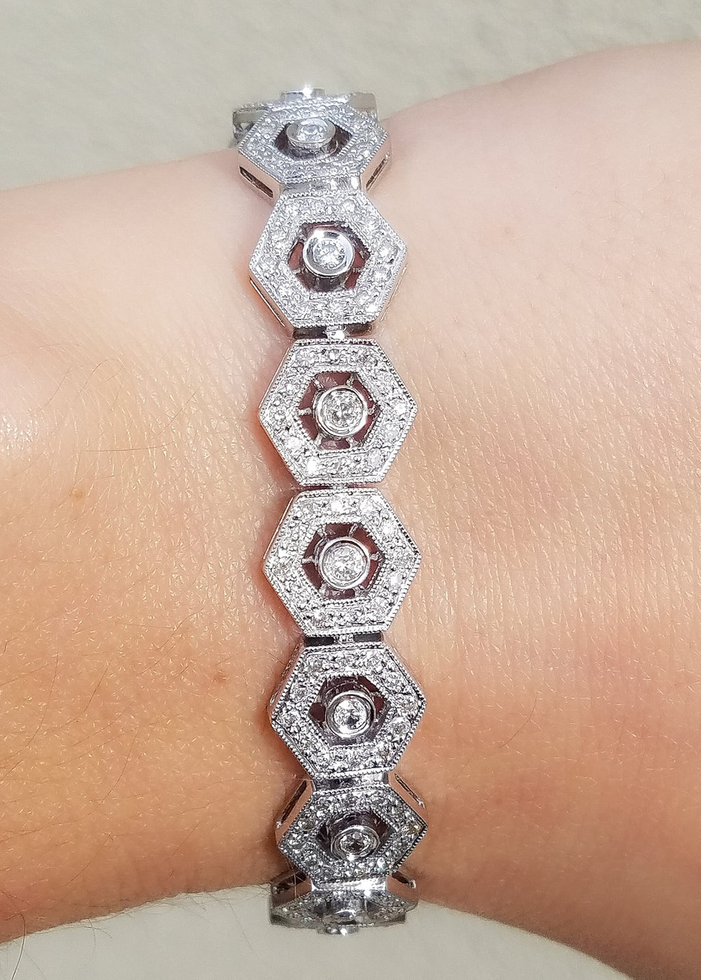 Fancy White Gold Diamond Bracelet