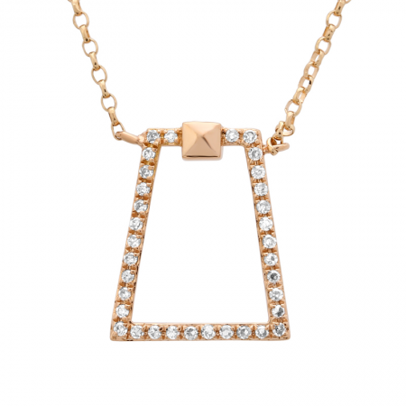 "Rose Gold ""Petite"" Diamond Necklace"