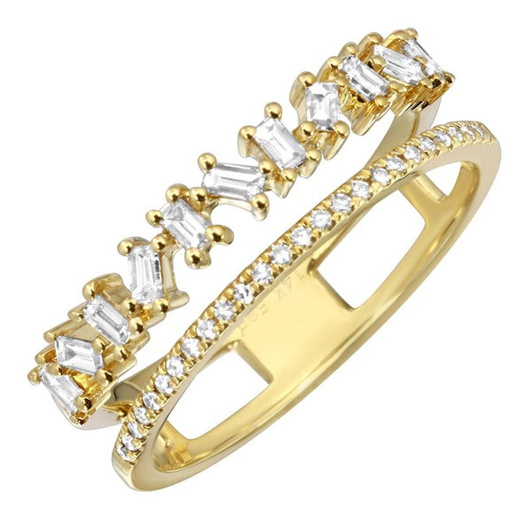 Yellow Gold Double Diamond Band