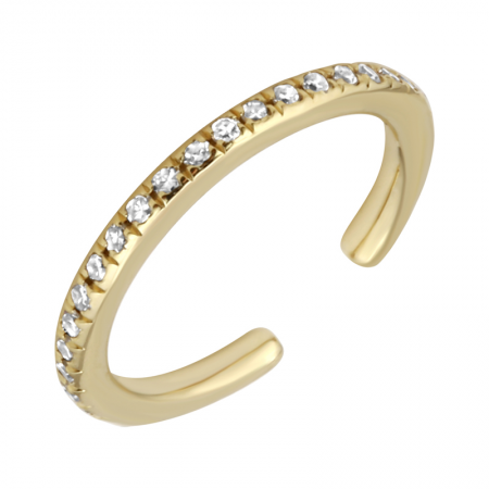 Yellow Gold Diamond Ear Cuff