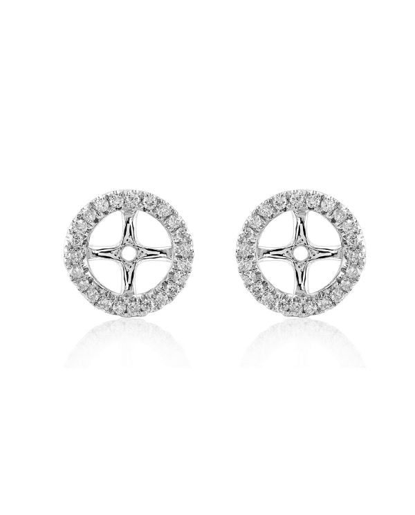 "White Gold ""Medium"" Diamond Removable Earring Jackets"