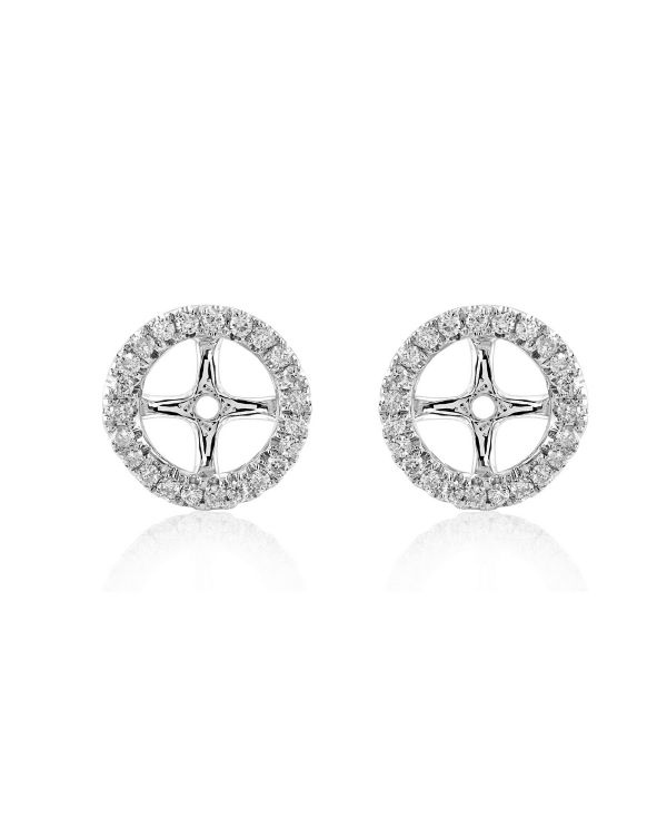 "White Gold ""Large"" Diamond Removable Earring Jackets"