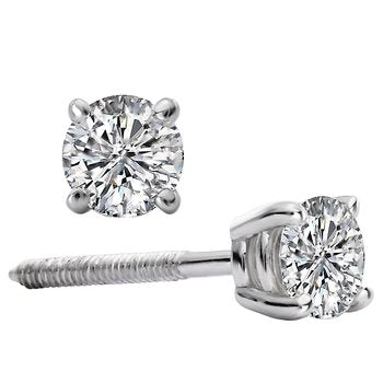 White Gold 1/2ct. tw Round Diamond Studs
