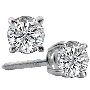 White Gold 1.00ct. tw Round Diamond Studs