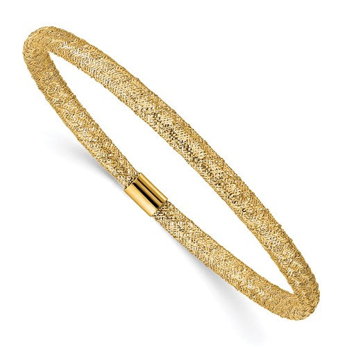 Yellow Gold Skinny Mesh Bracelet