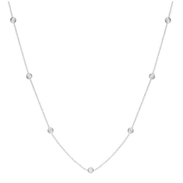 "White Gold ""Diamonds by the Inch"" Necklace"